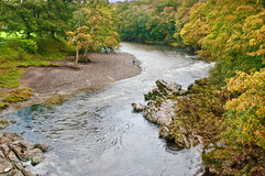 A bend in the River Lune stock photos