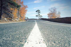 Bend in the road Royalty Free Stock Image