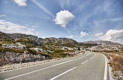Bend. The road to Durmitor Park. Summer. Montenegro stock photo