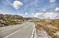 Bend. The road to Durmitor Park. Summer. Montenegro stock image