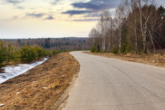 Bend in the road Stock Photography