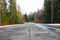 Bend in the road Royalty Free Stock Photography