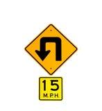 Bend Roadsign Stock Image