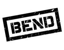 Bend rubber stamp Royalty Free Stock Photos