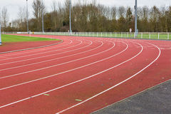 Bend of Running track Royalty Free Stock Image