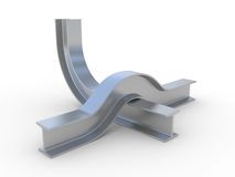 Bend structural steel Stock Images