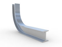Bend structural steel Royalty Free Stock Photography