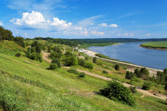 Bend of the Tom River in Tomsk, Russia Stock Image