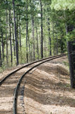 Bend in the tracks Royalty Free Stock Photography