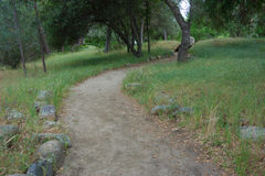Bend in Walking Path Stock Photos