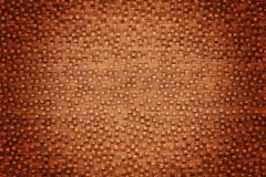 Abstract background from cubes. Bended background made with wood cubes on curved wall Royalty Free Stock Photography
