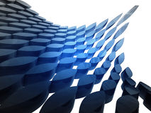 bended blue shape structure wallpaper Royalty Free Stock Photo
