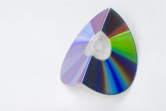 Bended cd, dvd or blu-ray Royalty Free Stock Images