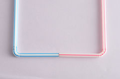 Bended drinking straws. On a white background stock images
