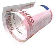 Bended Euro. Bill royalty free stock image