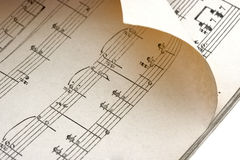 Bended music sheet Stock Images