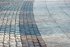 Bended paved footpath Stock Image