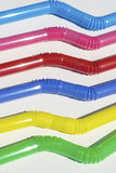 Bended plastic straws Stock Images