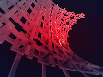 Bended red construction network wallpaper Stock Photo