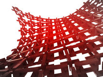 bended red construction wallpaper Royalty Free Stock Image