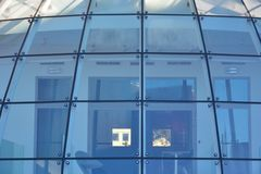 Bended round modern glass roof Royalty Free Stock Images