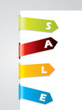 Bended tags on paper corner Stock Images