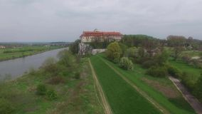 The Bendedictine Abbey in Tyniec stock video