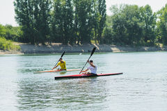 Bendery,Pridnestrove, June 18-19,2015 competition of rowing. Royalty Free Stock Photos