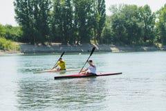 Bendery, Pridnestrove, o 18 de junho - competição 19,2015 do enfileiramento Fotos de Stock Royalty Free