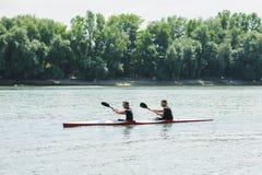 Bendery, Pridnestrove, o 18 de junho - competição 19,2015 do enfileiramento Imagens de Stock Royalty Free