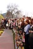 Bendición de Pascua de las cestas del alimento Fotografía de archivo