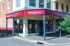 Bendigo-Bankfiliale Lizenzfreies Stockfoto