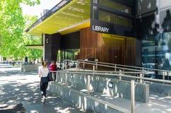 Bendigo-Bibliothek in zentralem Bendigo ist ein Teil Goldvorkommen-Bibliotheken stockbild