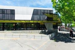 Bendigo-Bibliothek in zentralem Bendigo ist ein Teil Goldvorkommen-Bibliotheken stockfotografie