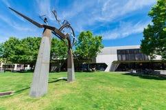 Bendigo-Bibliothek in zentralem Bendigo ist ein Teil Goldvorkommen-Bibliotheken stockbilder