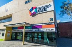 Bendigo institut av den yrkesmässiga högskolan för TAFE royaltyfria bilder