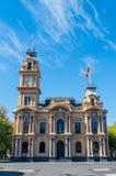 Bendigo stadshus med klockatornet i Australien Royaltyfria Bilder