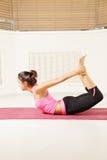 Bending back yoga pose Stock Photos