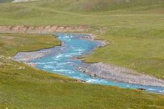 Bending blue river Stock Images