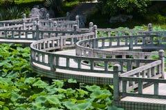 Bending  bridge Royalty Free Stock Image