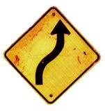 Bending directional arrow sign Stock Photos