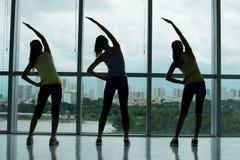Bending exercises Stock Image