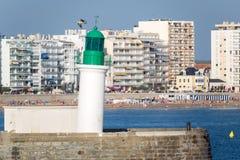 Bending lighthouse Stock Photos