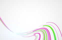 Bending line pink and green technology concept on white background Stock Image