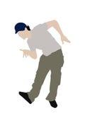 Bending man with cap vector illustration