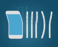 Bending modern smartphone Stock Photography