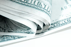 Bending money , cold tone Stock Images
