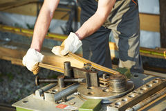 Bending reinforcement metal rebar Stock Photos