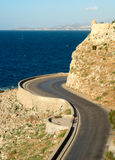 Bending road around fortress Stock Photography