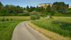 Free Bending Road Leading To A Castle Stock Photo - 9629820